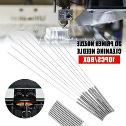 10Pcs 3D Printer MK8 Nozzle Cleaning Needles Kit Stainless S