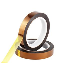 Retermit 2 Rolls 10mm X100ft Kapton Tape Sublimation Tape -