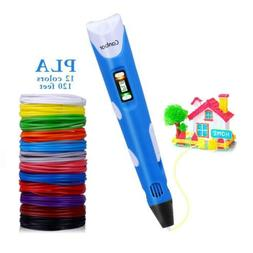 Canbor 3D Pen with PLA Filament Refills, Printing Drawing Pr