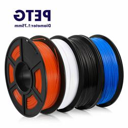 Sunlu 3D Printer Filament PETG White Black Blue Orange 1.75m