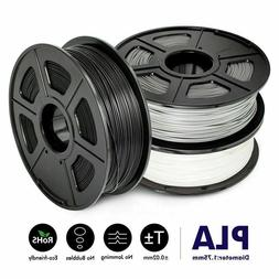 Sunlu 3D Printer Filament PLA White Black Grey 1.75mm 1kg No