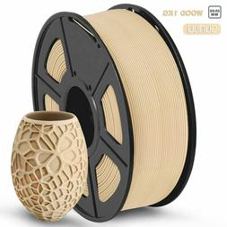 Sunlu 3D Printer Filament PLA Wood 1.75mm 1kg 330m Wooden Ef