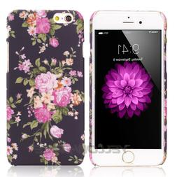 Retro Floral Flower Case Rubber TPU Skin for iPhone X 6 7 8