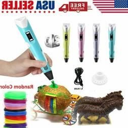 3D Printing Pen Crafting Doodle Drawing Arts Printer Modelin