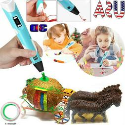 3D Printing Pen Drawing Doodle Crafting Modeling Filament Ar