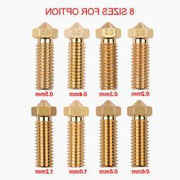Aibecy 3Pcs 3D Printer Extruder Brass Nozzle 0.2mm Print Hea