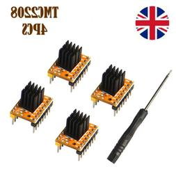 4xTMC2208 Stepper Motor Driver Module with Heat Sink for 3D