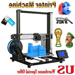 Anet A8 Plus Upgraded DIY 3D Printer Self-assembly 300*300*3