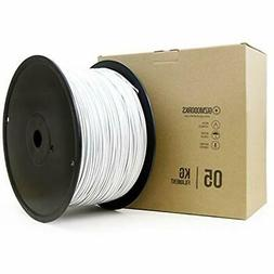 "ABS Filament For 3D Printers 3mm  5kg, White Industrial "" Sc"