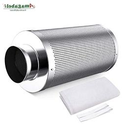 "4"" Activated Inline Carbon Charcoal Air Filter Purifier Hydr"