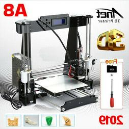 ANET A8 3D Printer,Desktop Acrylic LCD Screen Printer w/ 8G