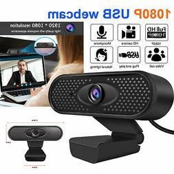 Full HD 1080p Webcam w/Light Correction Mic Web Camera For L