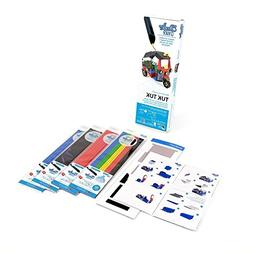 3Doodler Create 4 Pack Plastic Bundle with Tuk-Tuk Stencil