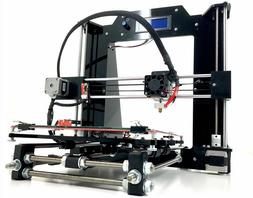 Reprap DIY Prusa I3 V2 Black 3D Printer Kit USA Made Plastic