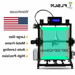 Flsun Dual Extruder I3 3D Printer 300*300*420mm Large Size T
