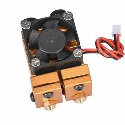 Extruder V6 Dual Nozzle Double Head Print Hotend Kit For 3D