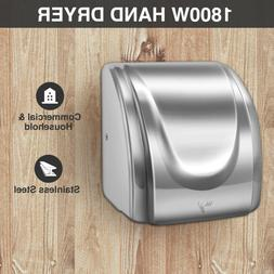 High Speed Electric Auto Hand Dryer 1800W Commercial and Hou