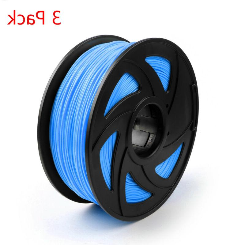 3 Pack 3D Printer Filament 1.75mm ABS TPU Print 1KG