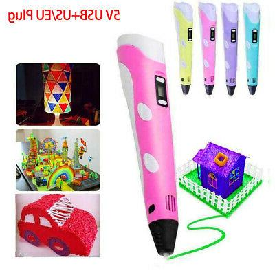 3D Doodler Drawing Printing DIY Pen Present Toys For Kids Pr