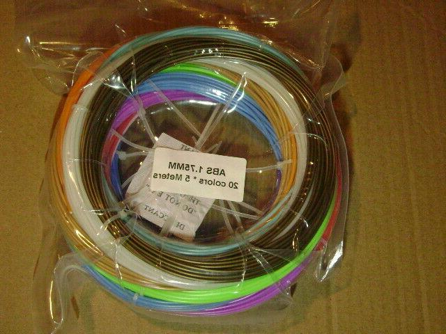3D | 3D Printer Filament 20 Colors Meters