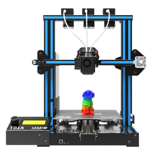 A10T 3D Printer 0.4mm Nozzle Mix-color Triple Extruders 3 in