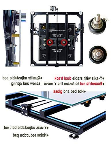 ADIMLab 3D 24V Prusa 3D Printing Size 310X310X410 with Heat Glass, Control Box, Upgrade Available