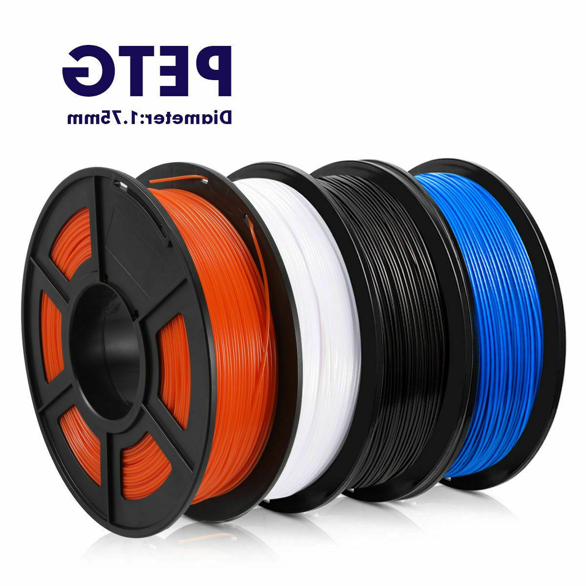 3d printer filament petg white black blue