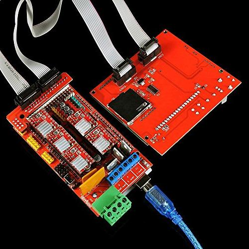 OSOYOO with + Mega 2560 + 5pcs Motor with + LCD 12864 Graphic Adapter