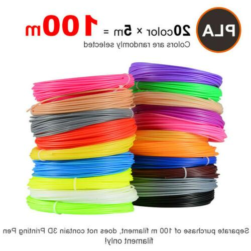 5m 20 colors 3d pen filament pla