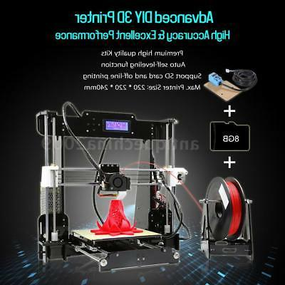 Anet Level 3D Printer Kit+Filament+8G SD Card Print
