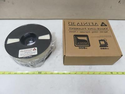 afinia value line natural white abs filament