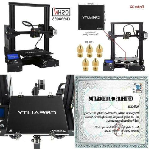creality 3d ender 3x printer with tempered