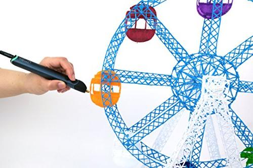 3Doodler Create With Plastic No Non-Toxic, Blue