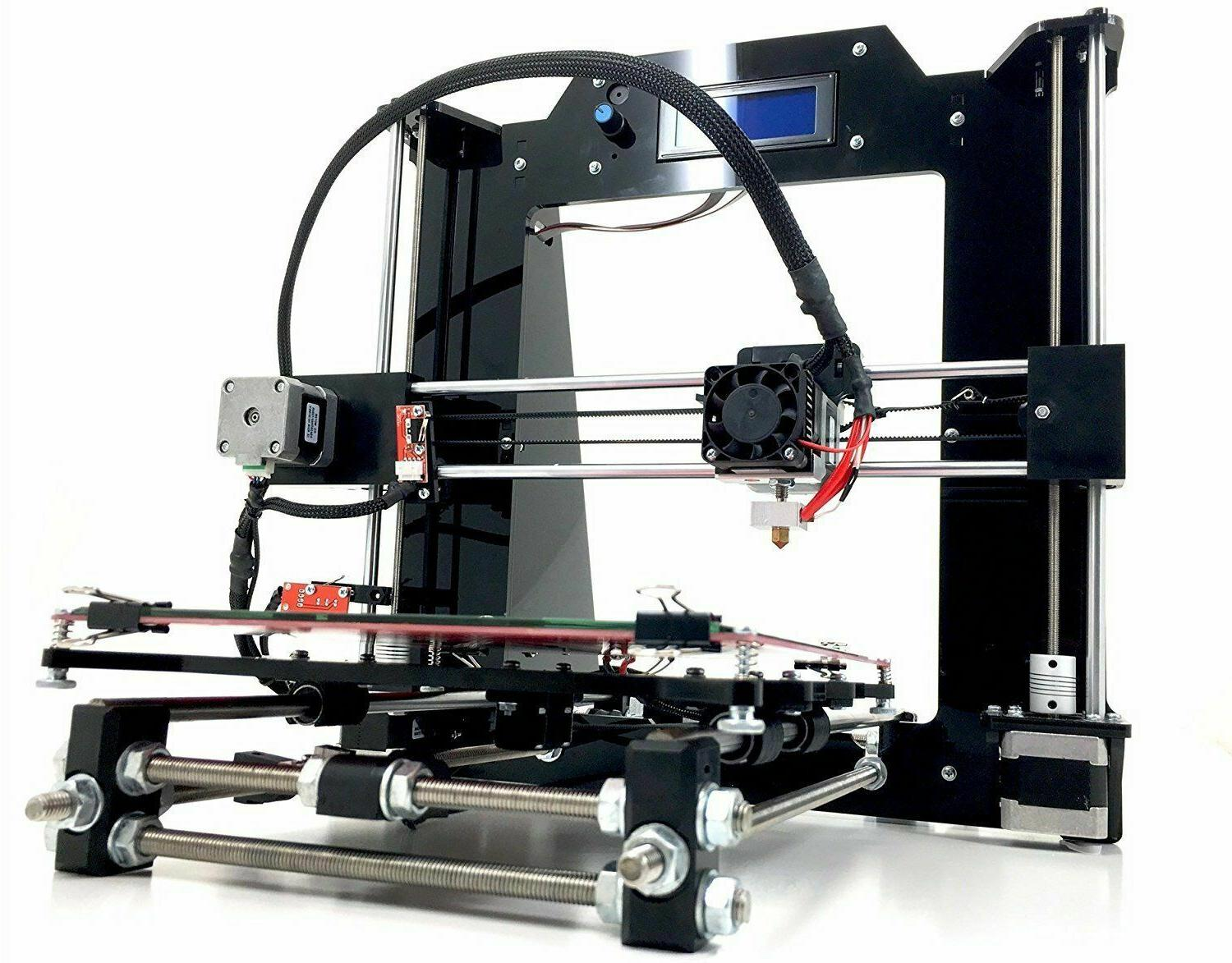 diy prusa i3 v2 black 3d printer