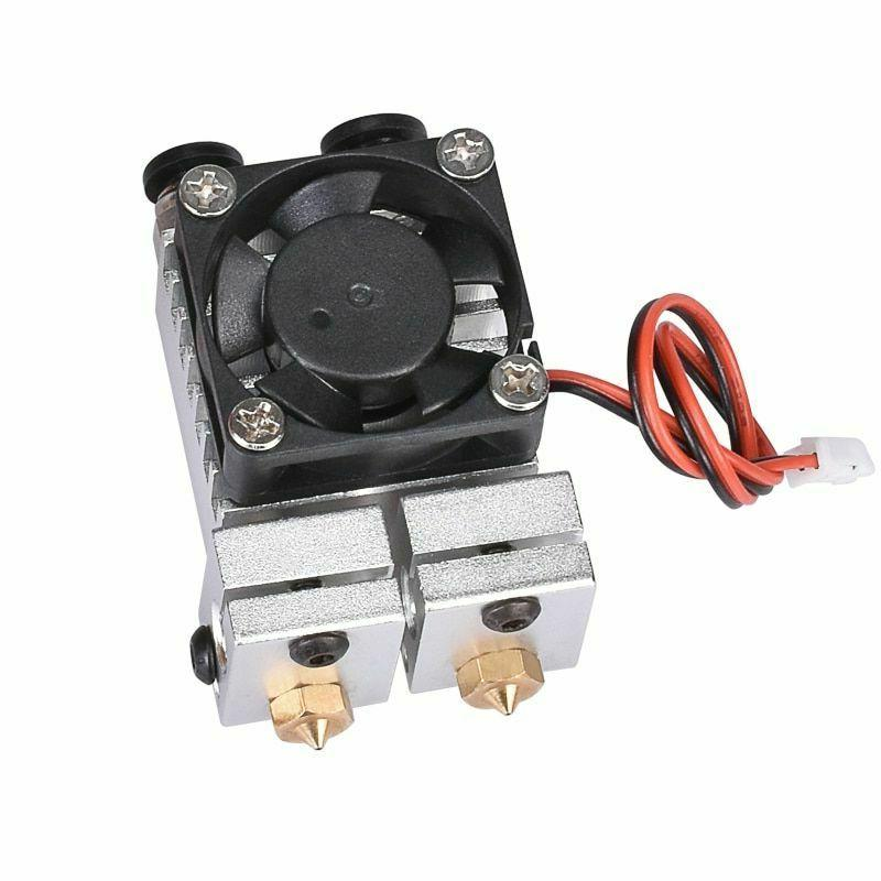 Extruder V6 Dual Double Print Hotend Kit For 3D Accessories
