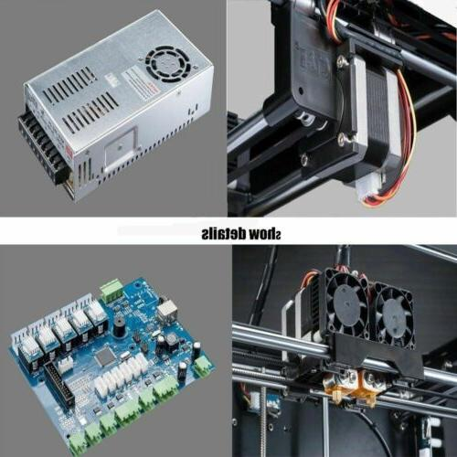 Large 3D Printer Dual Extruder -Stable precise PLA/ABS
