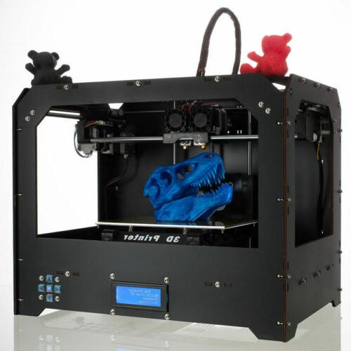 large 3d printer fdm dual extruder mk8