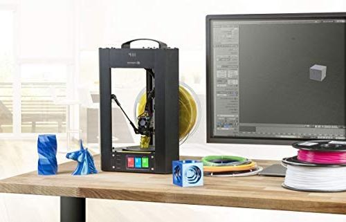 Monoprice Mini Delta 3D Printer With Heated Build Plate, Auto Calibration, Assembled for PLA MicroSD Card 3D
