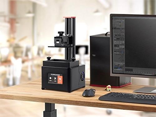 Monoprice Resin 3D With Build Screen Display + 250ml Red Resin