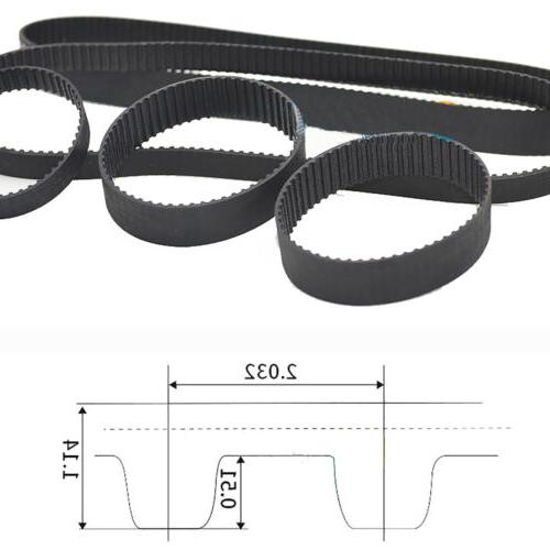 mxl timing belt tooth pitch 2 032mm