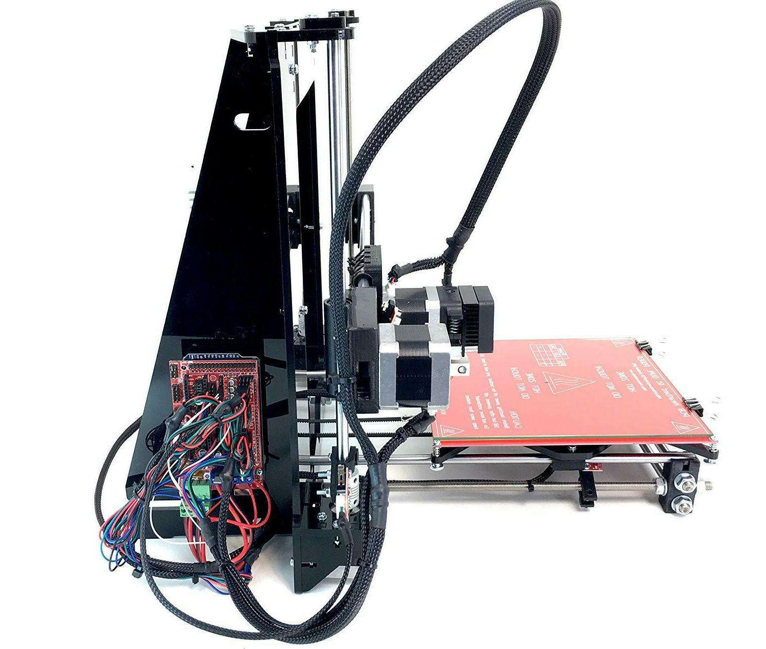 new black acrylic diy prusa i3 3d