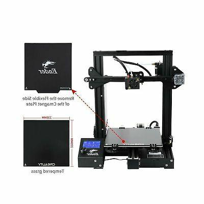 Official Creality 3D Printer Bundle with Glass & Upgraded A...