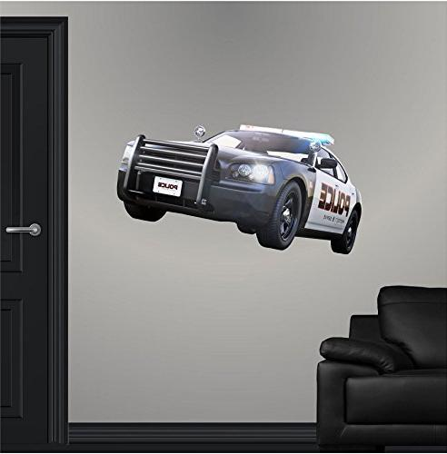 police cop car wall decal