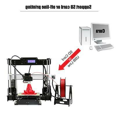 Upgraded Self-leveling Anet A8 Printer Reprap i3 US