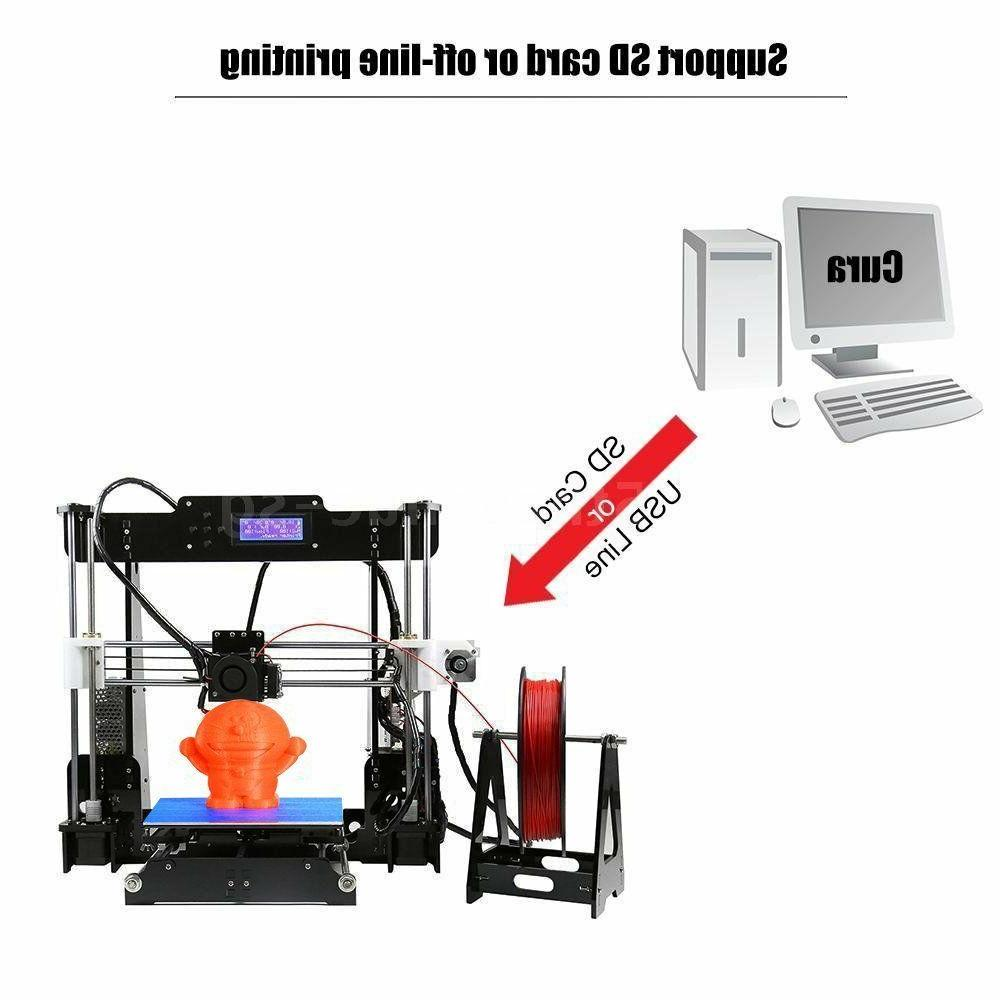 US Stock Printer A8 Prusa i3 DIY kit 220x220x240mm