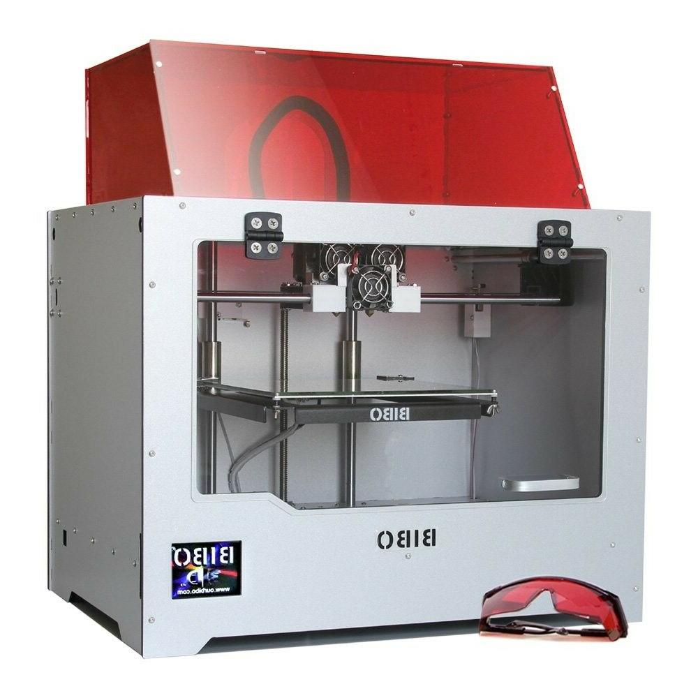 wifi touch screen 3d printer dual extruder