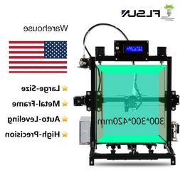FLSUN i3 3D Printer Large Printing Size 300*300*420mm Auto-l