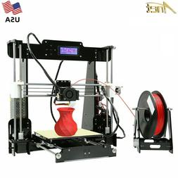 New Anet A8 3D Printer 220*220*240mm Desktop DIY Kits with 1