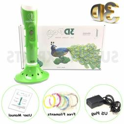 New Green 3D Printing Drawing Pen Crafting Modeling PLA Fila