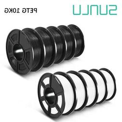 SUNLU PETG 3D Printer Filament 1KG 1.75mm 10Roll SpoolBlack